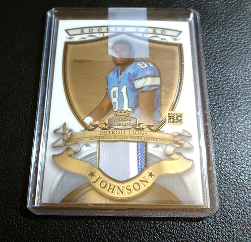 CALVIN JOHNSON JR 2007 Topps Sterling Rookie Patch