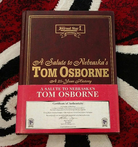 Salute to 25 Years TOM OSBORNE Lrather Bound Book Only 250 Made 5 Signed Huskers