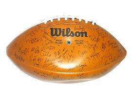 Nebraska Cornhuskers 1995 National Championship Team Signed Football Brook Berringer