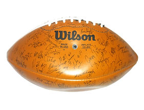 Nebraska Cornhuskers 1995 National Championship Team Signed Football Brook Berringer