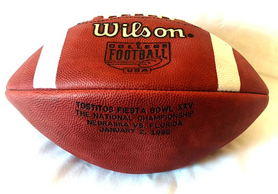 1995 National Championship Game Ball Fiesta Bowl Nebraska Cornhuskers