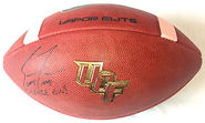 2017 UCF Knights Coach Scott Frost Autographed Game Football Nebraska Cornhuskers