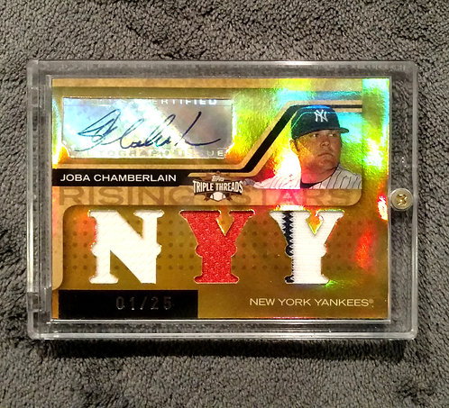 1/25 JOBA CHAMBERLAIN 08 Topps Triple Threads