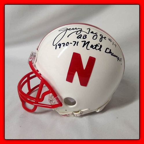 JERRY TAGGE Signed & Inscribed 1970-71 National Champs Mini Helmet