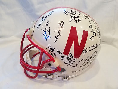1995 Nebraska Cornhuskers Team Signed Football Helmet National Champs