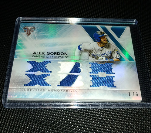 1/3 Alex Gordon 2015 Topps Relic 3 Color Patch