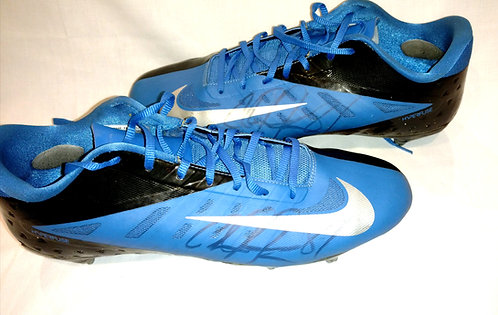 Calvin Johnson Jr MEGATRON Game Used Signed Cleats