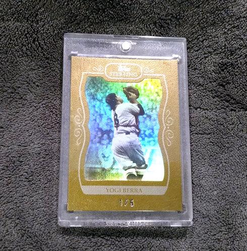 1/5 YOGI BERRA 2008 Topps Sterling GOLD