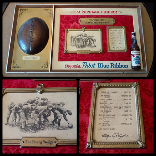 Vintage Pabst Blue Ribbon Football All-time Greats