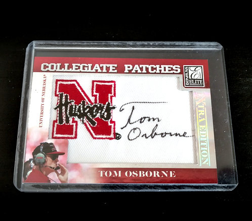2007 Elite Collegiate Patches Signed TOM OSBORNE