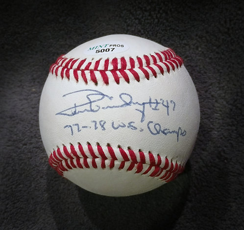 RON GUIDRY 77-78 W.S. Champs Signed OLB Baseball
