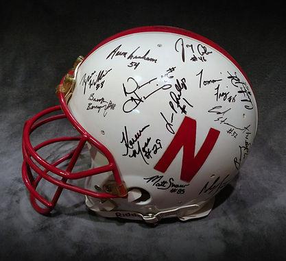1994 National Champs Nebraska Cornhuskers Team Signed Helmet