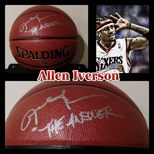 ALLEN IVERSON The ANSWER Signed NBA Spalding Ball