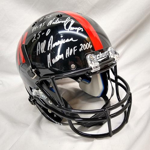 Christian Peter 1 of Only 2 Signed & Inscribed Black Full Size Helmet