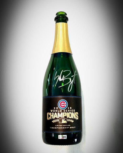 2016 World Series CUBS Champagne Auto KRIS BRYANT