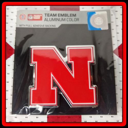 "Nebraska Cornhuskers NCAA Aluminum 3x3"" Logo Emblem for Car or anywhere"