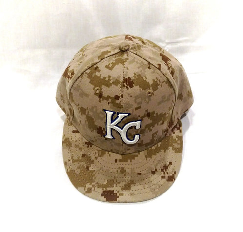 KC Royals ALEX GORDON Game Used Hat Military Camo