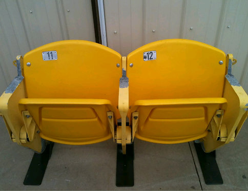 Omaha's Johnny Rosenblatt Baseball Stadium Seats YELLOW College World Series CWS