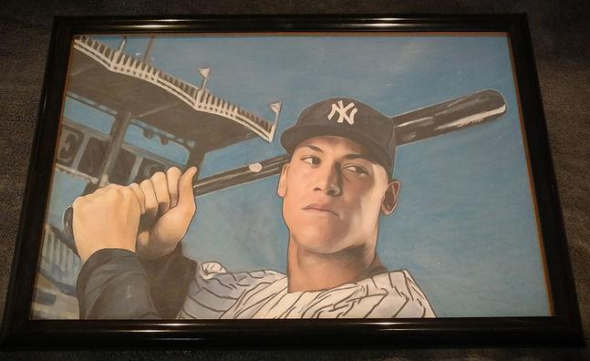 2017 New York Yankees Rookie Aaron Judge Original Topps Bowmn Artwork Artist BC Hepner