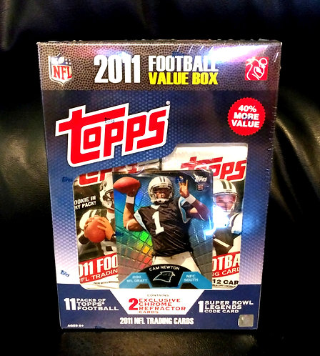 Topps 2011 Football Value Factory Sealed Box Cam Newton TMB-1 Refractor Rookie