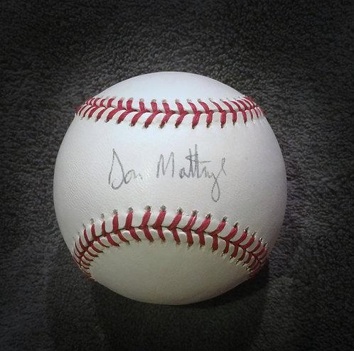 Yankees DON MATTINGLY Signed Official AL Baseball