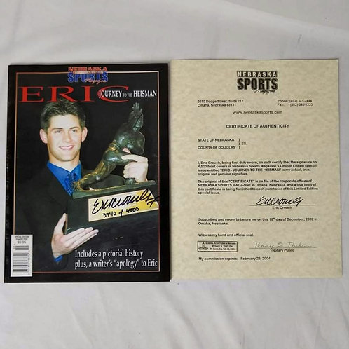 ERIC CROUCH Heisman Trophy 🏆 WINNER Autographed Nebraska Sports Magazine
