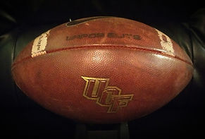 2017 UCF Knights Game Used Football NAVY Vs. UCF