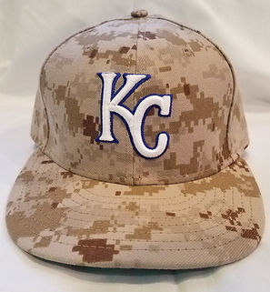 Nebraska Cornhuskers Kansas City Royals Alex Gordon Game Used Hat 2013 Memorial Day Camo