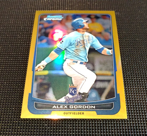 1/50 ALEX GORDON 2012 Topps Bowman Chrome GOLD