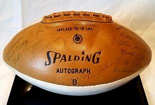 1970 Nebraska Cornhuskers Team Signed Football National Champions