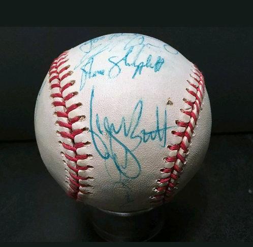 1992 KC Royals Team signed Baseball GEORGE BRETT