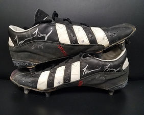 """1995 National Champions Nebraska Cornhuskers Game Used Tommie Frazier Cleats """"The Run"""""""