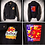 Thumbnail: NEBRASKA 1996 Tostitos Fiesta Bowl 95 NATIONAL CHAMPIONS Leather Letter Jacket