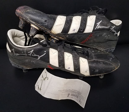 """Game Used Tommie Frazier Fiesta Bowl """"The Run"""" Cleats"""