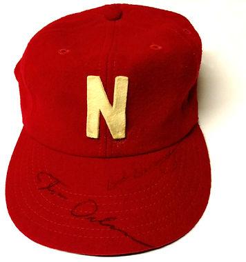 Nebraska Cornhuskers Coach Bob Devaney Coach Tom Osborne Signed Vintage Hat
