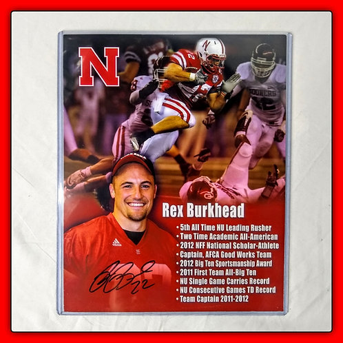 REX BURKHEAD Signed Autographed 8x10 Stat Sheet SUPERBOWL CHAMP
