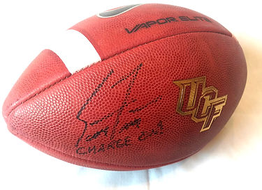 2017 UCF Knights Coach Scott Frost Signed Game Ball Nebraska Cornhuskers