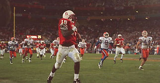 """Nebraska Cornhuskers Tommie Frazier """"The Run"""" Game Used Cleats"""