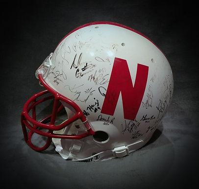 Nebraska Cornhuskers 1997 National Championship Team Signed Football Helmet Scott Frost