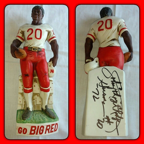 RARE WHITE & SIGNED 1970-71 JOHNNY RODGERS McCormick Whiskey Decanter