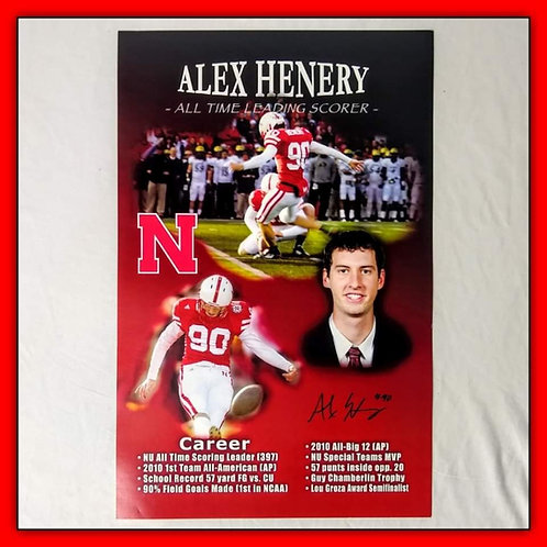 "ALEX HENERY Autographed Signed 11x17 Stay Poster ""ALL-TIME LEADING SCORER"