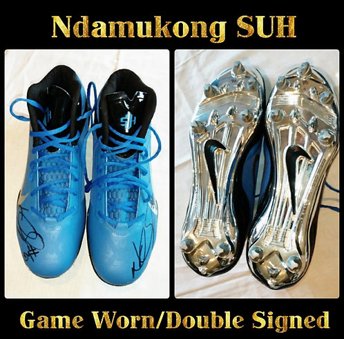 Ndamukong Suh Game Used Cleats Detroit Lions