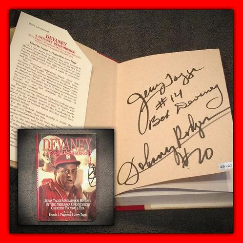 DEVANEY Book Signed Bob Devaney, Tagge, Rodgers