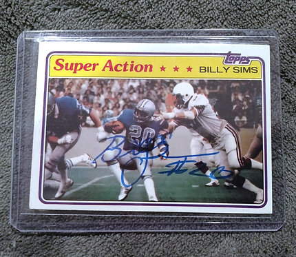 BILLY SIMMS Signed 1981 Topps SUPER ACTION