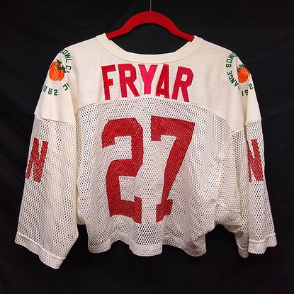 Irving Fryar Nebraska game worn jersey Orange Bowl