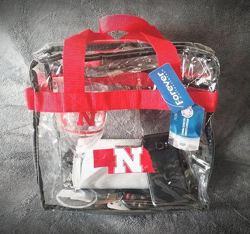 Nebraska Cornhuskers Stadium Clear Tote Purse Bag
