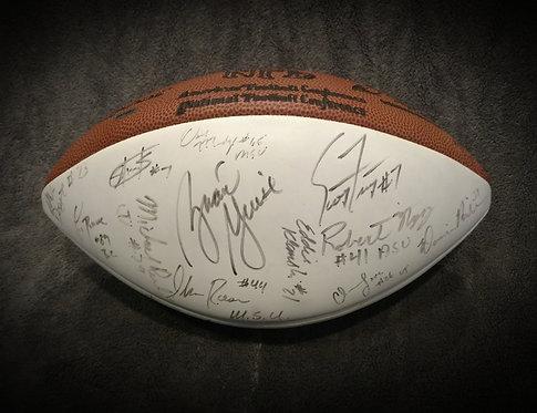 1998 Hooters Hula Bowl Senior Game North & South Signed Ball
