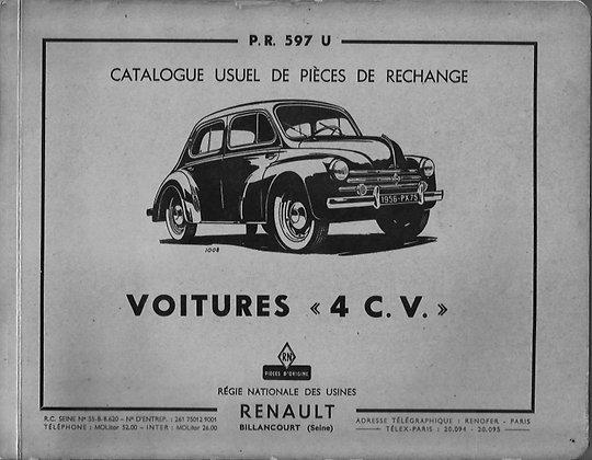 Catalogue PR 597U Renault 4cv