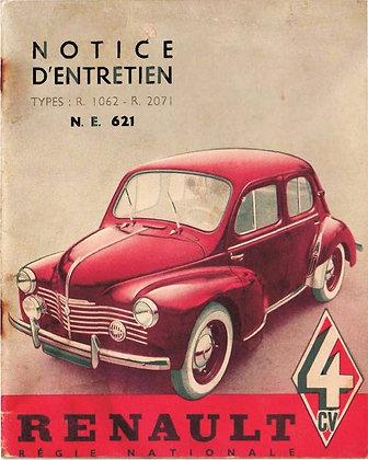 Notice Renault 4cv 1953