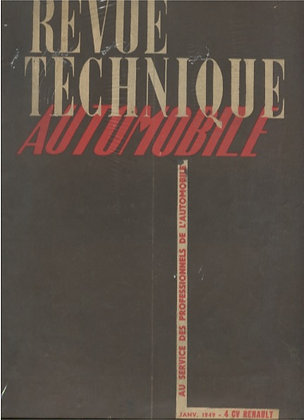 Revue Technique Automobile 1949